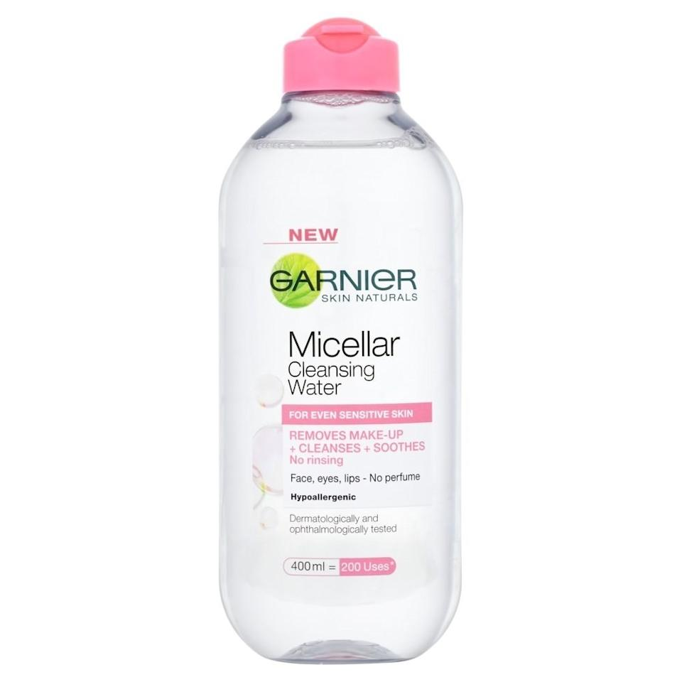"""The biggest trend right now in skin-care products, particularly in makeup removers, is something called micellar water,"" says <a rel=""nofollow"" href=""http://www.mcleandermatologycenter.com"">Lily Talakoub, M.D.</a>, of McLean Dermatology and Skincare Center. Micellar water doesn't rinse away the natural oils on your skin like some cleansers, so it keeps your face from getting <a rel=""nofollow"" href=""https://www.self.com/story/how-to-treat-dry-skin?mbid=synd_yahoo_rss"">super dry</a>."