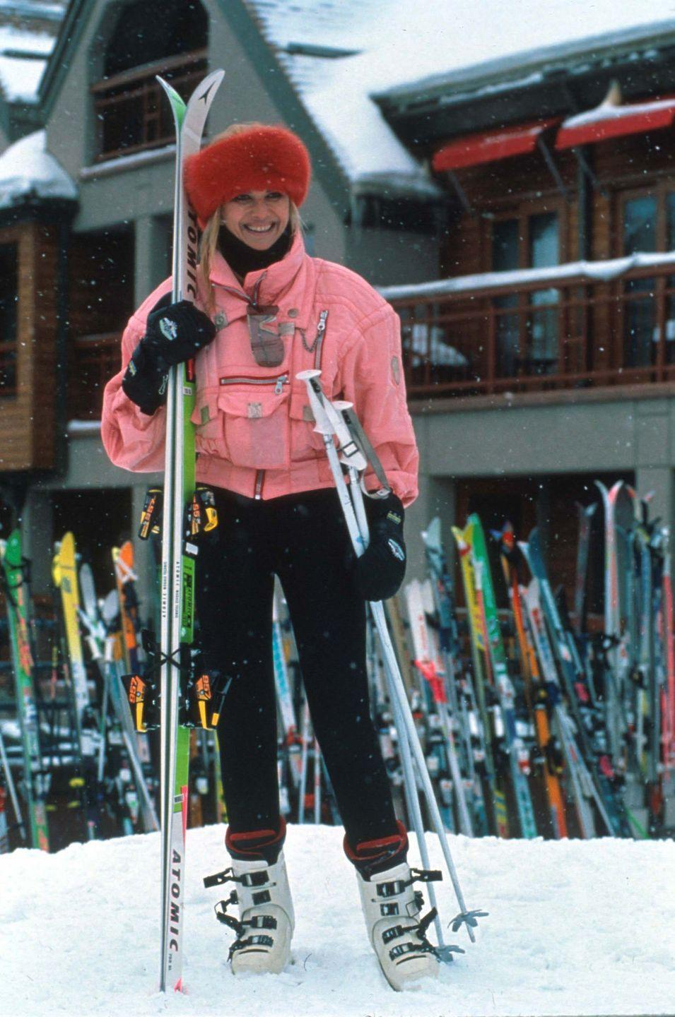 <p>Ivana Trump on a ski trip in Aspen, Colorado.</p><p>Other celebrity visitors this year: Micheal Douglas.<br></p>
