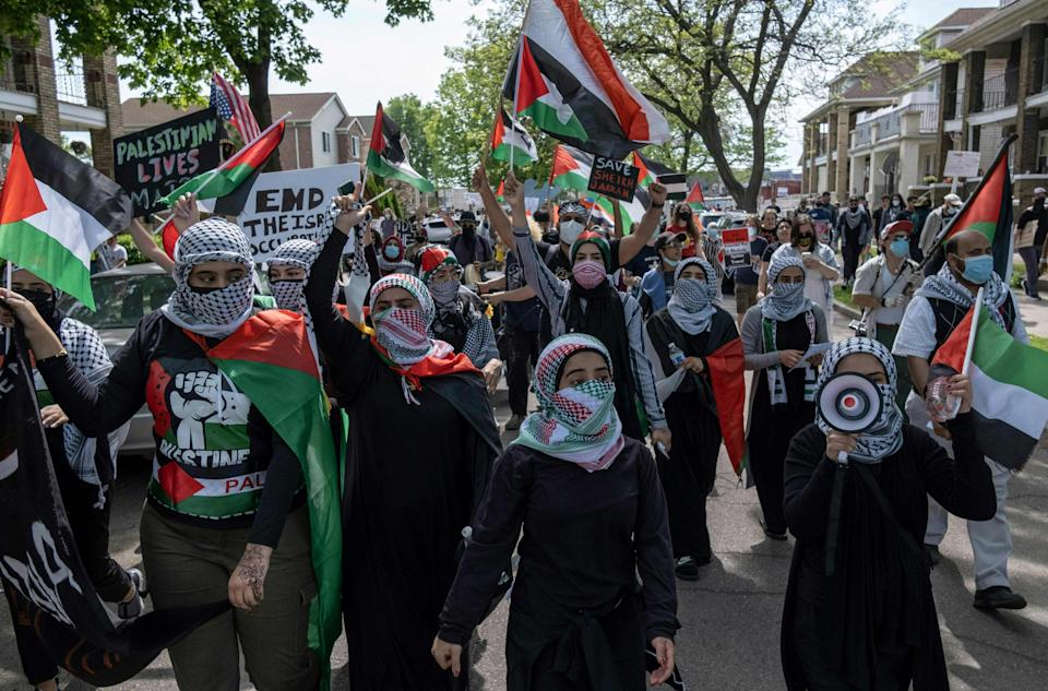 <p>Abdallah Sheik, president of the American Muslim Political Action Committee, urged Joe Biden to demand a ceasefire in Israel.</p> (AFP via Getty Images)