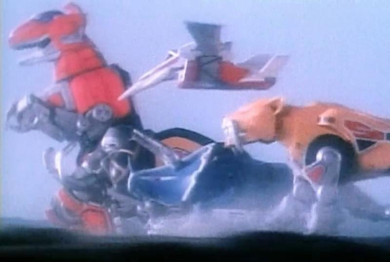 The original Zords of 'Mighty Morphin Power Rangers' (credit: Saban)