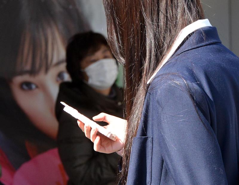 A total 96% of Japanese high schoolers reportedly have a mobile phone, against 60% of junior high school students