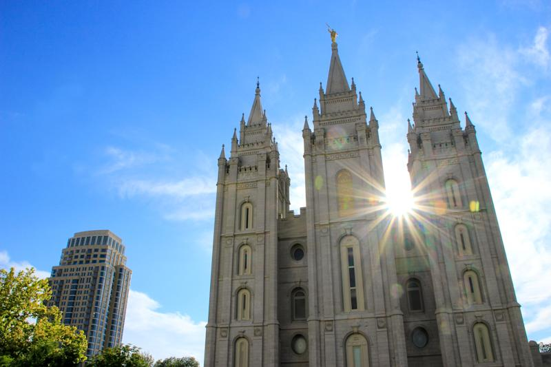 Temple of The Church of Jesus Christ of Latter-day Saints in Salt Lake City, the capital and the most populous city in Utah. (Donyanedomam via Getty Images)
