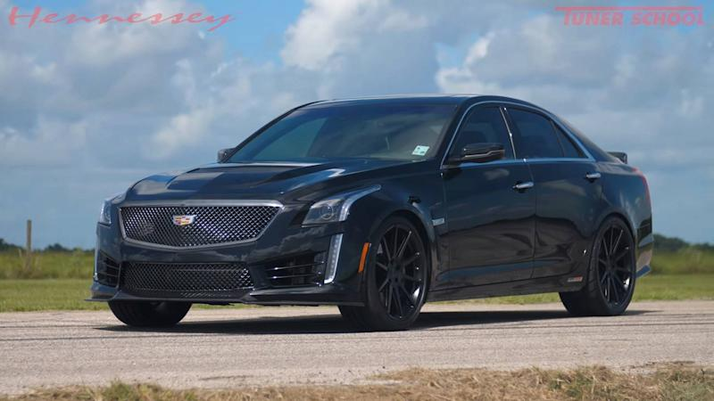 Watch Hennessey's tal 1,000-HP Cadillac CTS-V In Action