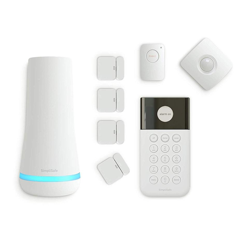 <p>Keep your home and valuables safe with the help of this <span>SimpliSafe Wireless Home Security System</span> ($248).</p>