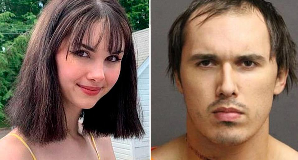 Pictured are Bianca Devins, 17, and 22-year-old Brandon Clark.
