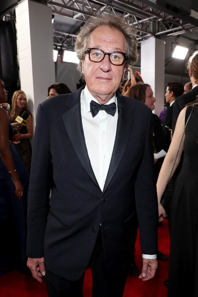 The STC company said it would not be commenting further on the matter involving Geoffrey Rush, pictured here last month. Source: Getty