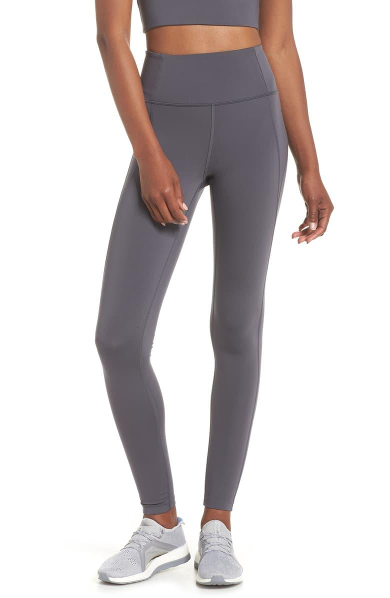 Girlfriend Collective Full Length Leggings in smoke
