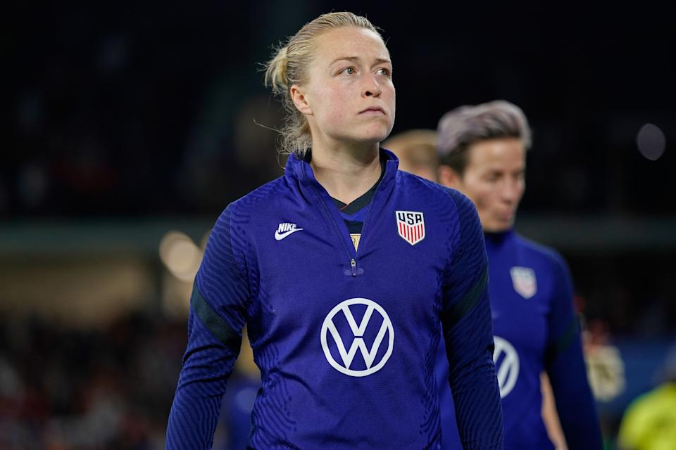 Emily Sonnett and other USWNT NWSL players never really had contracts with their clubs. They had them with U.S. Soccer. (Photo by Robin Alam/Icon Sportswire via Getty Images)