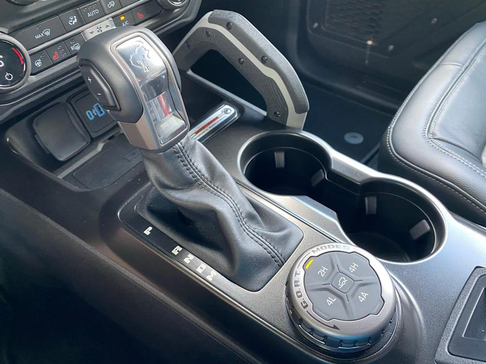 2021 Ford Bronco shifter and driving mode selector