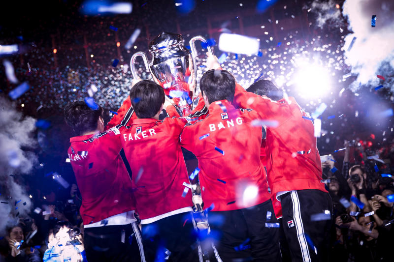 SK Telecom T1 will be the final IEM Katowice champion for the time being (Patrick Strack/ESL)