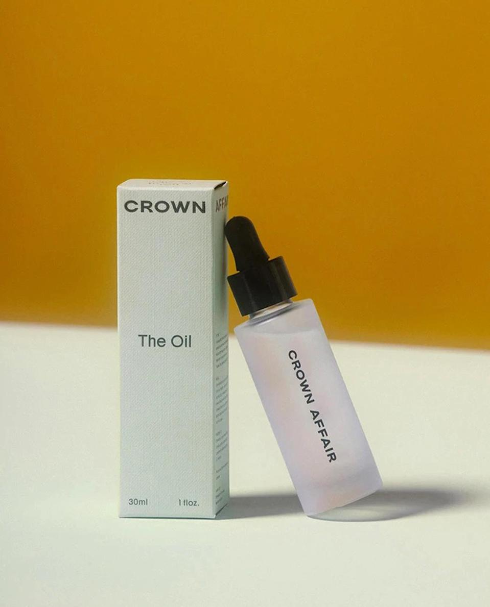 """<p>For any curly girl, minimizing frizz is crucial, and this oil gets the job done — adding shine and softness in the process. Plus, it makes such a gorgeous addition to any shelfie — any spiral-stranded friends are going to be obsessed. </p> <p><strong>Buy It!</strong> $40, <a href=""""https://www.crownaffair.com/products/the-oil"""" rel=""""nofollow noopener"""" target=""""_blank"""" data-ylk=""""slk:crownaffair.com"""" class=""""link rapid-noclick-resp"""">crownaffair.com</a></p>"""
