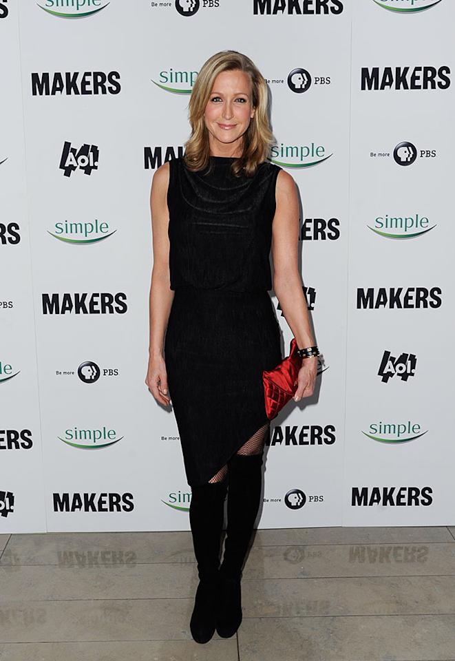 "Lara Spencer arrives at ""MAKERS: Women Who Make America"" New York Premiere at Alice Tully Hall on February 6, 2013 in New York City."