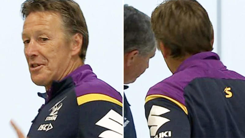 Craig Bellamy, pictured here leaving his press conference after just two minutes.