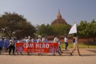 Rally against the military coup in Bagan
