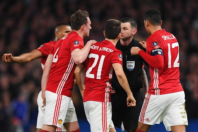 Manchester United fined £20,000 for failing to control players vs Chelsea