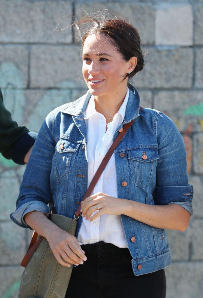The Duchess of Sussex wore double denim this morning [Photo: Getty]