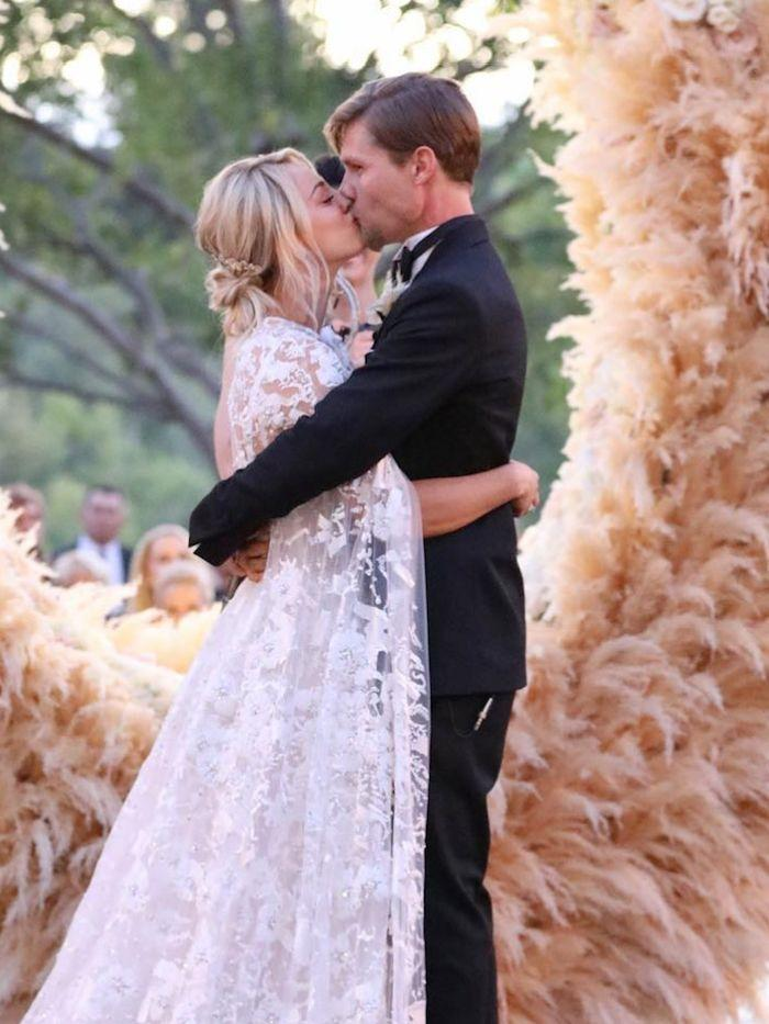 Icymi Kaley Cuoco Got Married In A Cape And A Jumpsuit