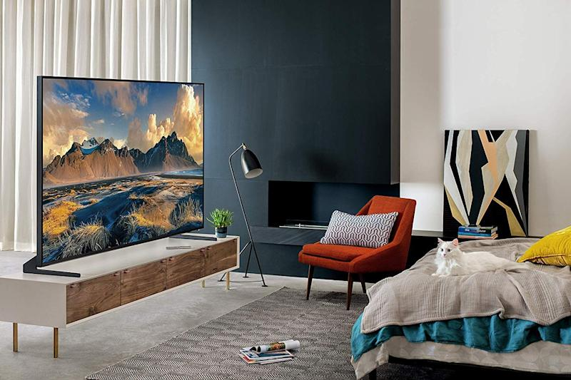 Samsung's Flat Screen 82-Inch QLED 8K Q900 Series Ultra HD Smart TV (QN82Q900RBFXZA). (Photo: Amazon)