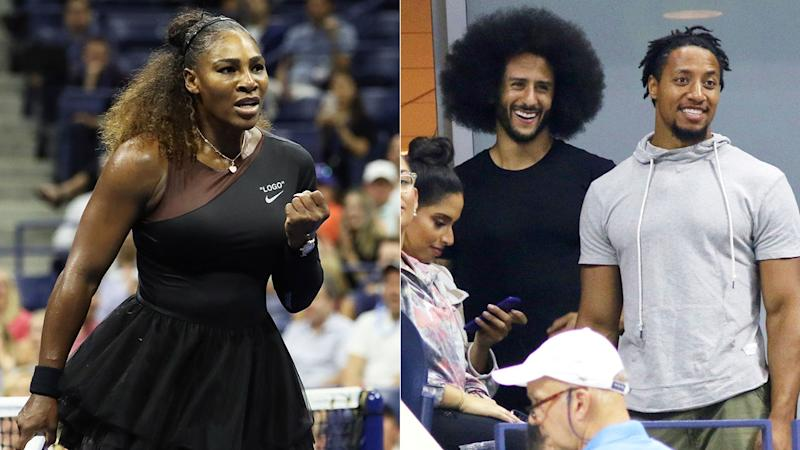 Kaepernick gets lots of love from Serena and US Open crowd