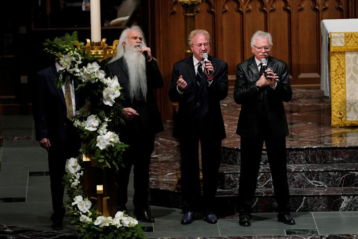The Oak Ridge Boys perform during the funeral service for former President George H.W. Bush at the St. Martins Episcopal Church in Houston, Texas, Dec. 6, 2018. (Photo: Rick T. Wilking/Reuters)