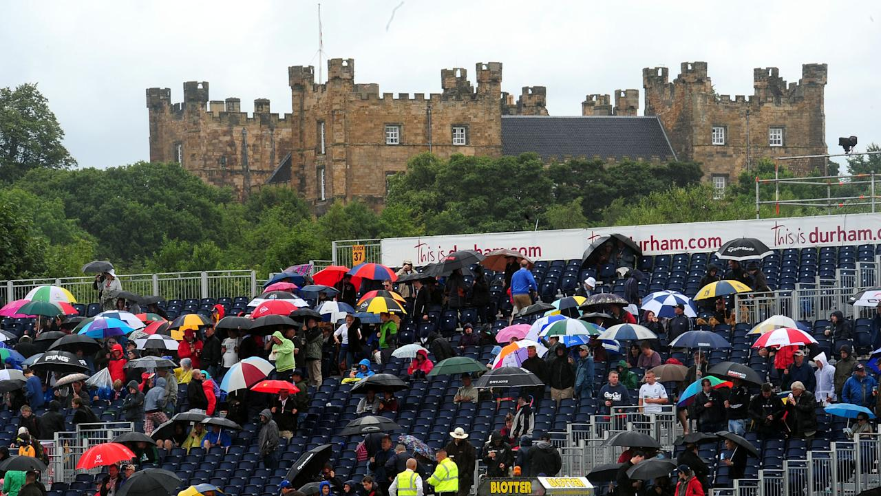 Rain falls during day four of the Fourth Investec Ashes test match at the Emirates Durham ICG, Durham.