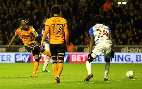 "Championship leaders Wolves bounced back from their mauling at Aston Villa to stay three points clear of Cardiff on a night when anxious fans were worried the pressure of being title favourites might begin to tell. Another bad result could have seen their lead, which stood at 13 points only a month ago, eroded completely by the relentless winning streak of their rivals from Wales, whose best form of the season has coincided with Wolves' worst. But after head coach Nuno Espirito Santo shook them up with four changes from the side beaten 4-1 at Villa, Wolves responded in a fashion that saw normal service restored, goals in each half by Matt Doherty sandwiching one in between by Benik Afobe to give them a comfortable win. More importantly even than keeping Cardiff at arm's length, the result stretched the gap between themselves and third place to 10 points as a result of Villa faltering at home to Queen's Park Rangers. ""It was just the result we needed after Saturday,"" Doherty said. ""We needed another game as quickly as possible. The defeat at Villa doesn't mean so much now, especially after they lost, so we are in a good position. Benik Afobe scores for Wolves Credit: GETTY IMAGES ""There has been no panic. It might look from the outside world that you're under pressure but as professionals you know that you are not going to win every game."" Wolves now have a chance to put some pressure on Cardiff by beating struggling Burton Albion at Molineux on Saturday, with Neil Warnock's team not in action until they travel to Derby on Sunday. Reading looked solid at first and Wolves suffered a blow when top scorer Diogo Jota had to be replaced because of ankle injury after 25 minutes. But once Doherty had headed them in front on 40 minutes they never looked like surrendering their advantage and in the second half recaptured the swagger of earlier in the season. Some miserable defending allowed Helder Costa to rescue a ball that seemed to be going nowhere and set up Afobe for an easy score, before a slick move ended with Doherty collecting a return pass from Cavaleiro to drive home his second. Reading have won only one match in 17 and manager Jaap Stam admits he is under pressure. ""If the owners want to make a change it is up to them but up until now they have been very supportive,"" he said. Team details Wolverhampton Wanderers (3-4-3): Ruddy; Bennett, Coady, Boly; Doherty, Saiss, Neves, Douglas; Costa, Jota (Cavaleiro 25), Afobe (Bonatini 72). Substitutes not used: Norris (g), N'Diaye, Batth, Gibbs-White, Miranda. Reading (5-4-1):Jaakkola; Gunter, Moore, Ilori, Blackett; Edwards, Evans (Bacuna 63); Aluko, Clement, Barrow; Bodvarsson (Smith 83). Substitutes not used: Mannone (g), Kermorgant, Rinomhota, Loader, Holmes. Referee: Robert Jones (Merseyside) Bookings: Wolves: Bennett. Reading: Gunter, Evans. Attendance: 27,341."