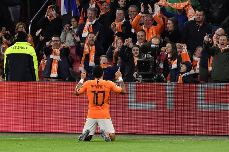 Memphis Depay had brought the Dutch level after they had trailed 2-0