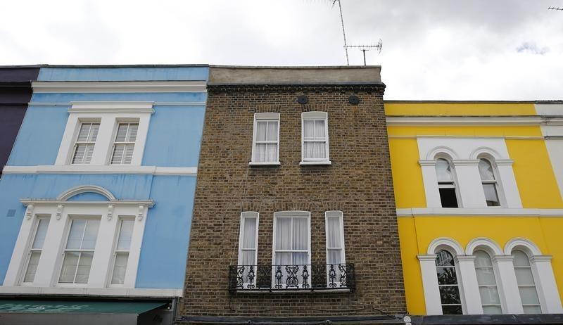 File photo of a row of houses in London