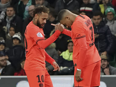 Ligue 1: Kylian Mbappe's double leads PSG to resounding win over Saint-Etienne; Rennes beat Lyon