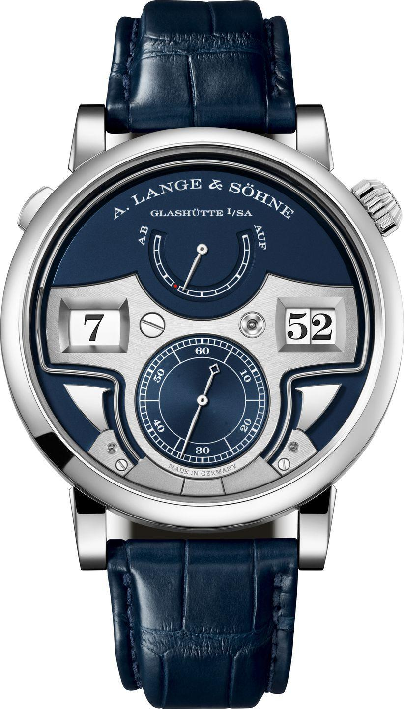 "<p>A. Lange & Söhne's Zeitwerk Minute Repeater holds the record for the world's only timepiece that combines a mechanical jumping numeral display with a decimal minute repeater. The new version comes in white gold with a handsome deep blue dial. <em>(Price on request)</em></p><p><a class=""link rapid-noclick-resp"" href=""https://www.alange-soehne.com/en"" rel=""nofollow noopener"" target=""_blank"" data-ylk=""slk:Learn More"">Learn More</a></p>"