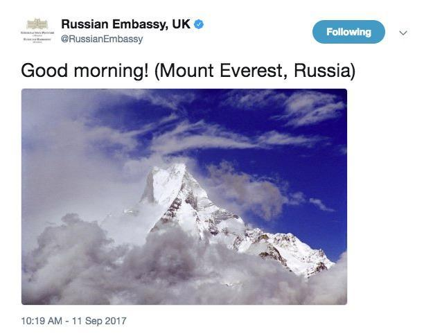 Good Morning Greetings In Russian : Russia has just claimed mount everest