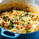 """<p>Pasta will never be the same after you've had this crawfish fettuccine. It's cheesy, creamy, and perfectly spicy, and filled with all the crawfish tails you could ever dream of. Pair this with a stiff hurricane, and your dinner is complete.</p> <p><strong>Get the recipe</strong>: <a href=""""https://spicysouthernkitchen.com/crawfish-fettuccine/"""" class=""""link rapid-noclick-resp"""" rel=""""nofollow noopener"""" target=""""_blank"""" data-ylk=""""slk:crawfish fettuccine"""">crawfish fettuccine</a></p>"""