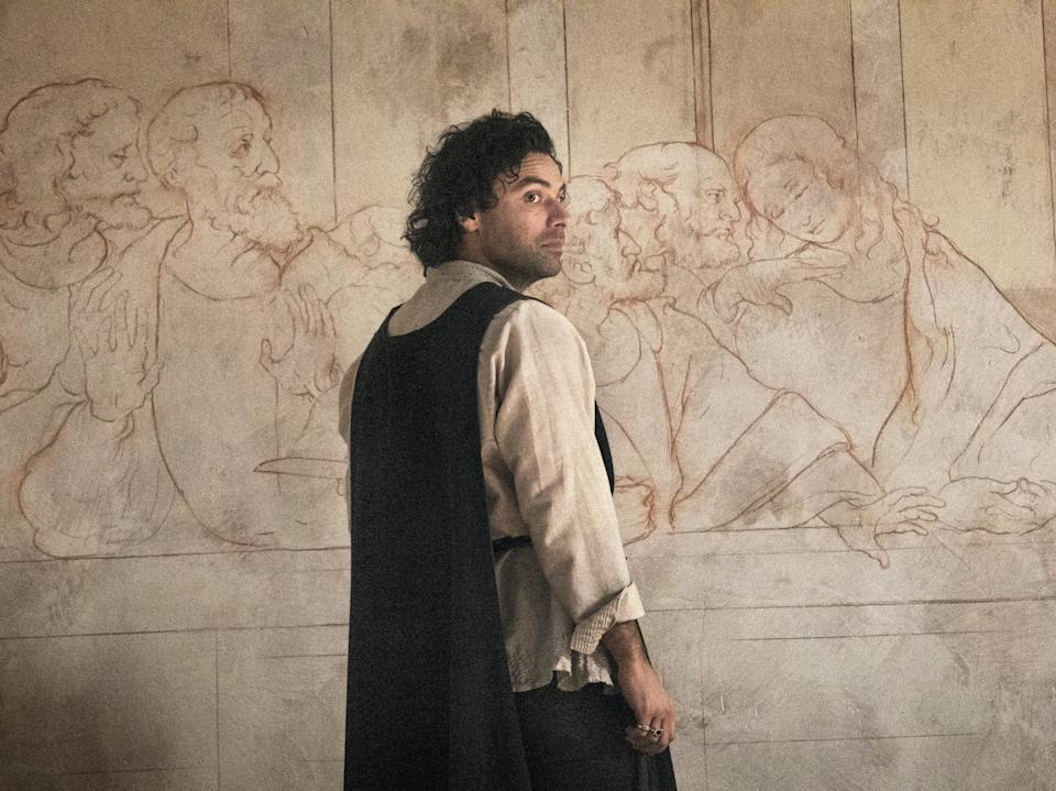 Aidan Turner as da Vinci in Leonardo (Amazon Prime Video)