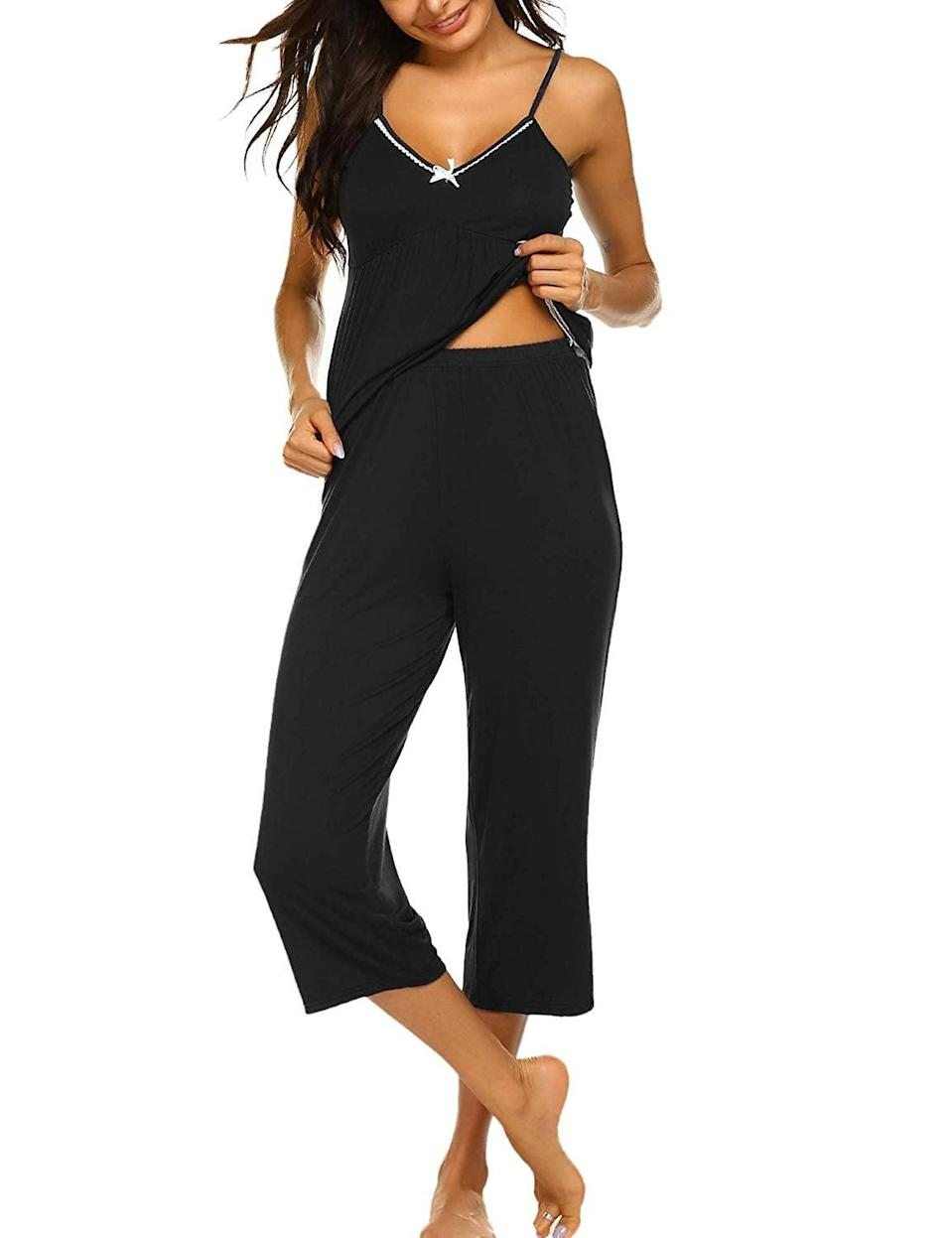 <p>Slip into this <span>Ekouaer Pajamas Set</span> ($29) on any day, and you might forget to shower (don't worry, we won't tell). It looks that comfortable, plus you can pair the embellished top with high-waisted jeans for a cute outing.</p>
