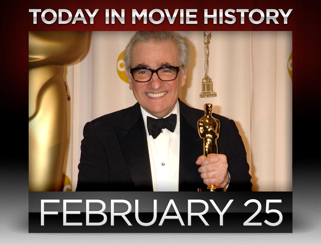 """<strong>2007</strong> – Ellen DeGeneres hosted the 79th Academy Awards at the Kodak Theatre in Hollywood on this day. """"<a href=""""http://movies.yahoo.com/person/martin-scorsese/"""">The Departed</a>"""" won four statues, including the best-director award for Martin Scorsese, his first win after having been nominated for seven previous Academy Awards."""