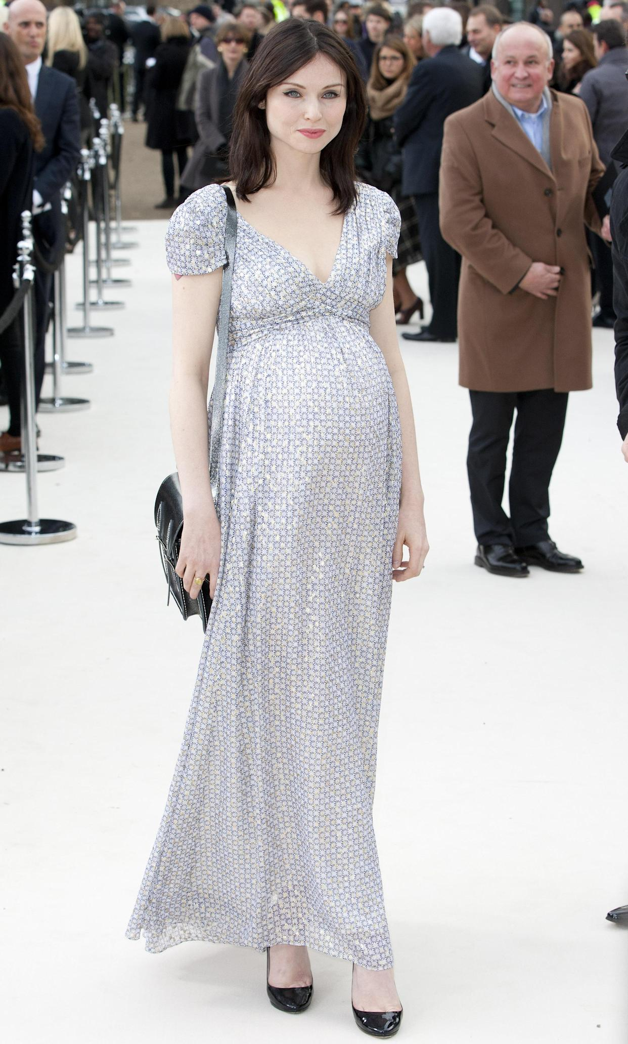 Sophie Ellis-Bextor, seen her pregnant with her third son Ray, says whether you're pregnant or not is a private thing. (Photo by John Phillips/UK Press via Getty Images)