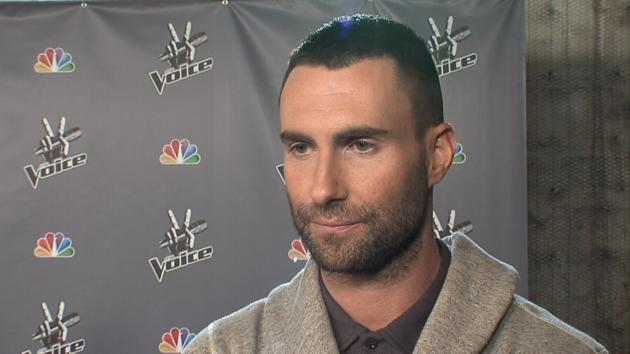 Adam Levine chats with Access Hollywood at 'The Voice' in Los Angeles on April 24, 2012 -- Access Hollywood