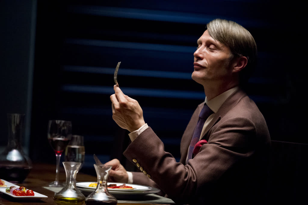 "<p>Hungry? Hannibal Lecter would love to have you over for dinner.<br><br> In NBC's ""Hannibal,"" Danish actor Mads Mikkelsen, who played diabolical Bond villain Le Chiffre in ""Casino Royale,"" steps into the iconic role made famous by Anthony Hopkins in ""Silence of the Lambs."" The new drama (set to debut Thursday, April 4 at 10 PM) will focus on FBI criminal profiler Will Graham (Hugh Dancy), who partners up with Lecter to track down killers -- not knowing that Lecter's a killer himself.<br><br> Does Mikkelsen look the part? Let us know in the comments, and click through to get a first look at the rest of the ""Hannibal"" cast.</p>"