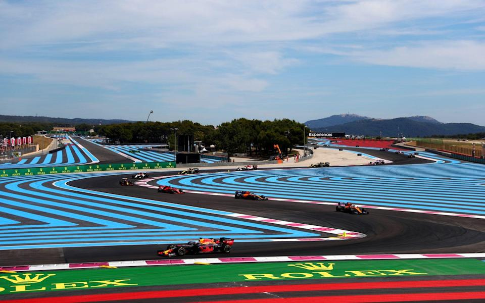 Max Verstappen of the Netherlands driving the (33) Aston Martin Red Bull Racing RB15 on track during the F1 Grand Prix of France at Circuit Paul Ricard on June 23, 2019 in Le Castellet, France - Dan Istitene/Getty Images