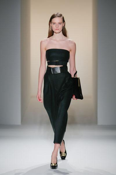 <b>Calvin Klein AW13 runway </b><br><br>Sleek minimalism was a key look on the CK catwalk.<br><br>Image © Getty