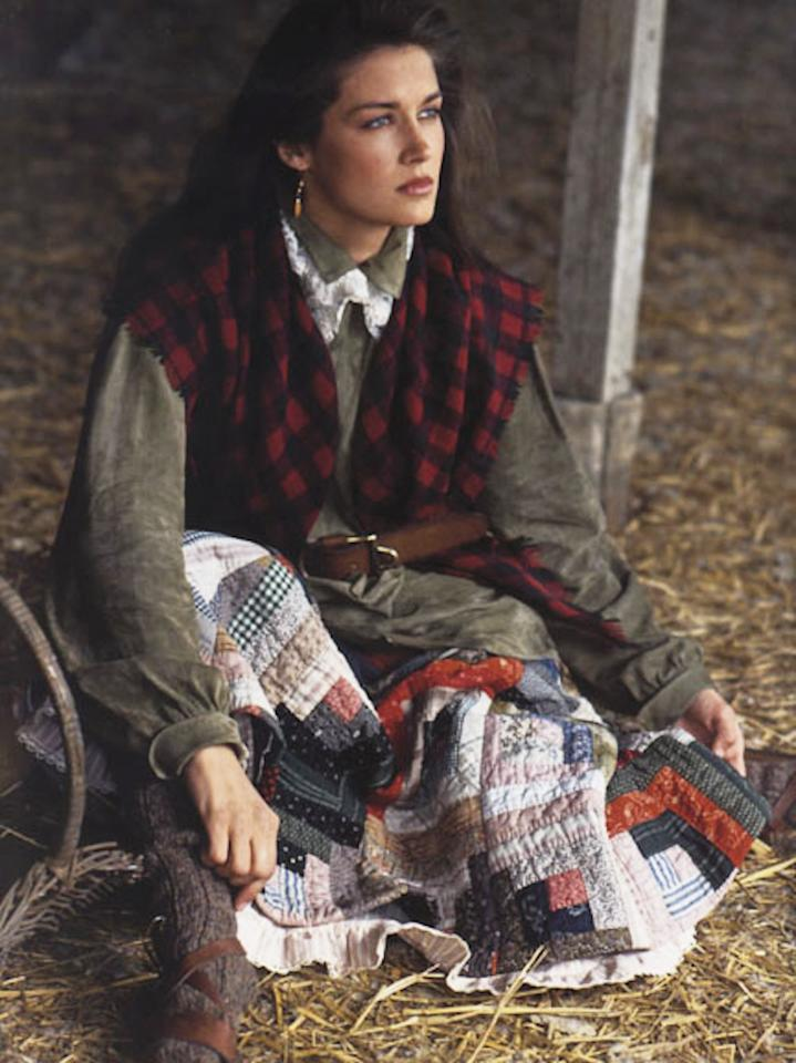 <p>This campaign portrayed fashion models as modern-day pioneers on the western home front.<br /></p>
