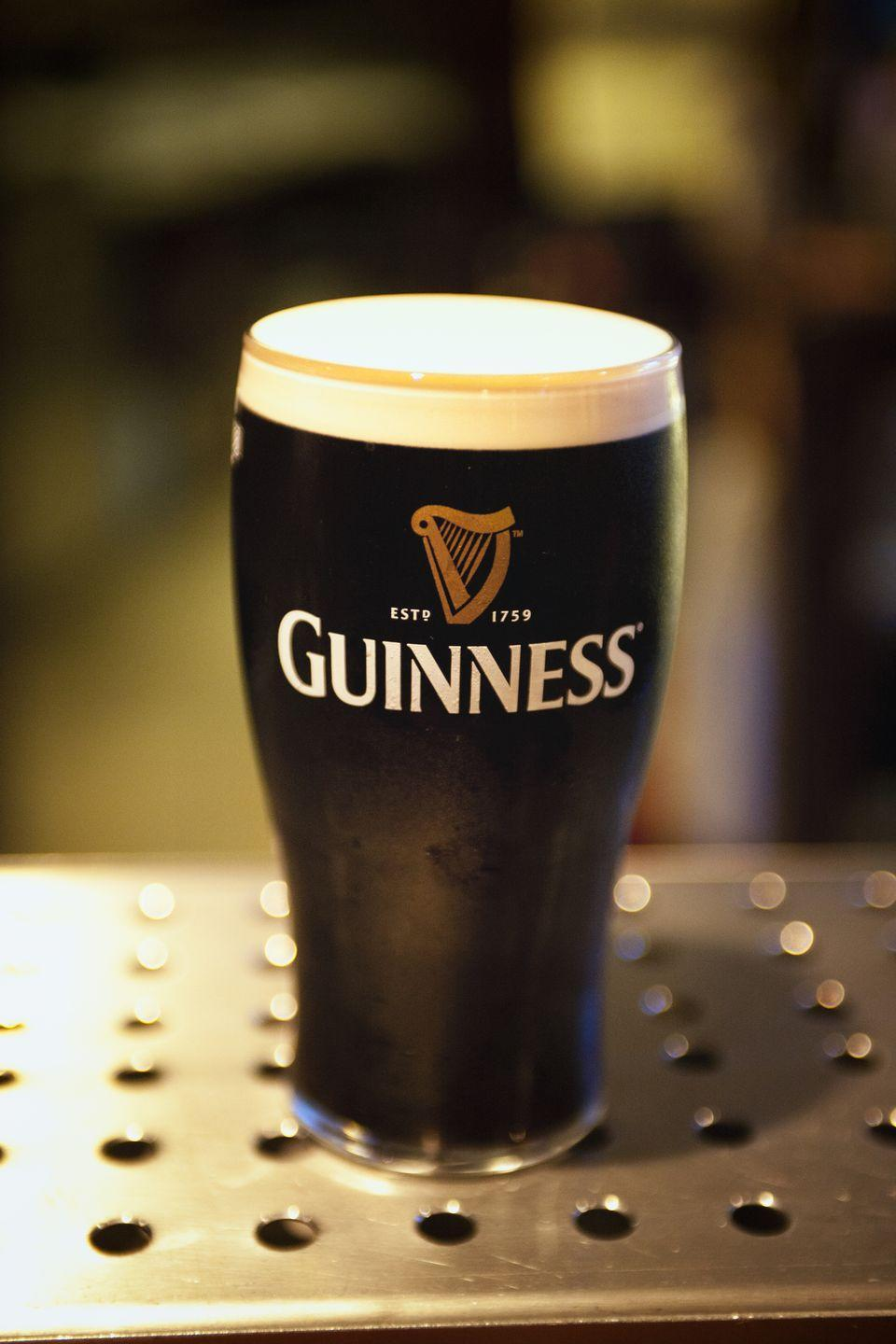 """<p>The thick, rich Irish dry stout is a must-have on St. Patrick's Day. It's estimated that <a href=""""https://www.irishcentral.com/opinion/niallodowd/guinness-pints-st-patricks-day-us-economy"""" rel=""""nofollow noopener"""" target=""""_blank"""" data-ylk=""""slk:nearly 13 million pints of Guinness"""" class=""""link rapid-noclick-resp"""">nearly 13 million pints of Guinness</a> are consumed on St. Patrick's Day across the world.</p>"""