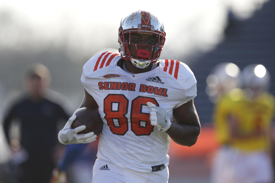 From walk-on, to Senior Bowl standout, Deon Yelder hopes to hear his name called in April during the NFL draft. (AP)