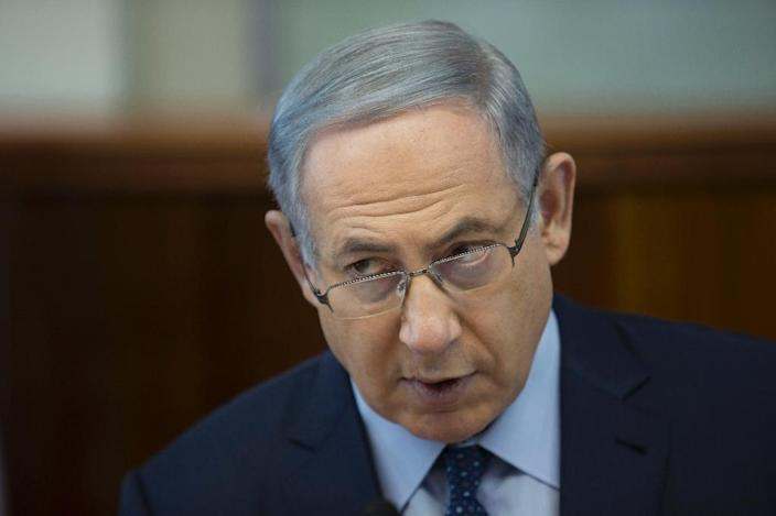 Israeli Prime Minister Benjamin, pictured on March 6, 2016 initiated crackdowns on Palestinian broadcasters and completion of the unfinished security barrier between Jerusalem and the West Bank (AFP Photo/Abir Sultan)