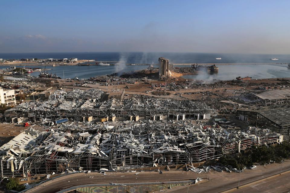 Lebanon Blast One Year (Copyright 2020 The Associated Press. All rights reserved.)