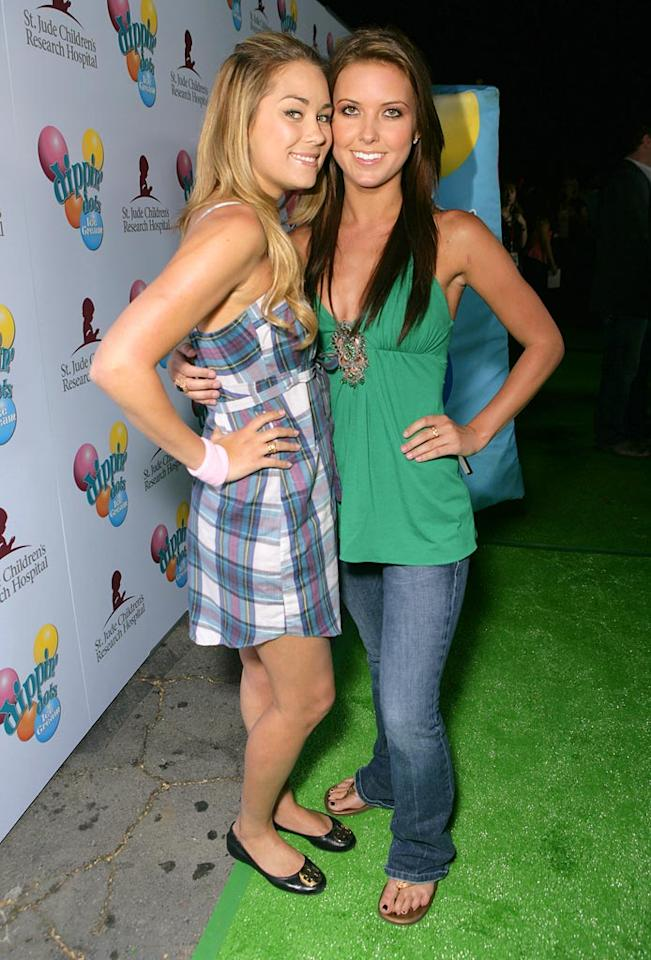 """Lauren Conrad and Audrina Patridge walk the green carpet at the Celebrity Grand Slam Paddle Jam to benefit St. Jude Children's Research Hospital. Todd Williamson/<a href=""""http://www.wireimage.com"""" target=""""new"""">WireImage.com</a> - May 10, 2007"""