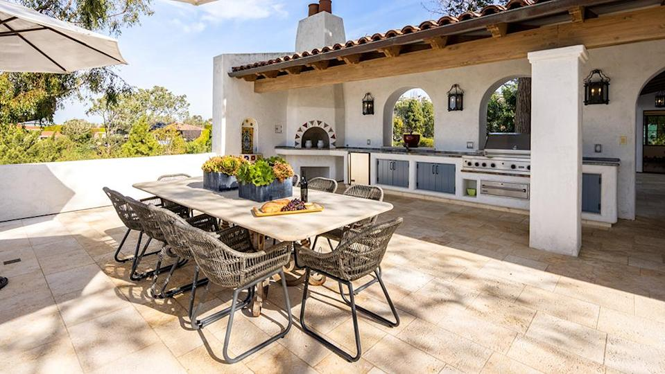 The home has no less than six outdoor dining areas. - Credit: Photo: Courtesy of Vista Sotheby's International Realty