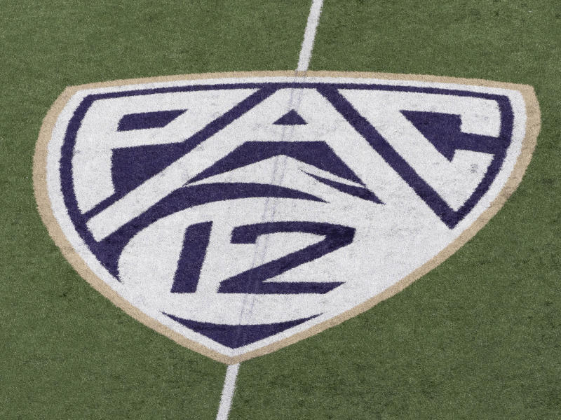 SEATTLE, WA - APRIL 27: A view of the PAC12 logo before the University of Washington Spring Game at Husky Stadium on Saturday, April 27, 2019 in Seattle, WA. (Photo by Joseph Weiser/Icon Sportswire via Getty Images)