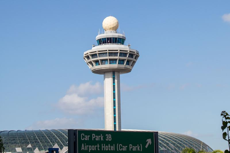 Changi Airport's iconic control tower. (PHOTO: Dhany Osman / Yahoo News Singapore)