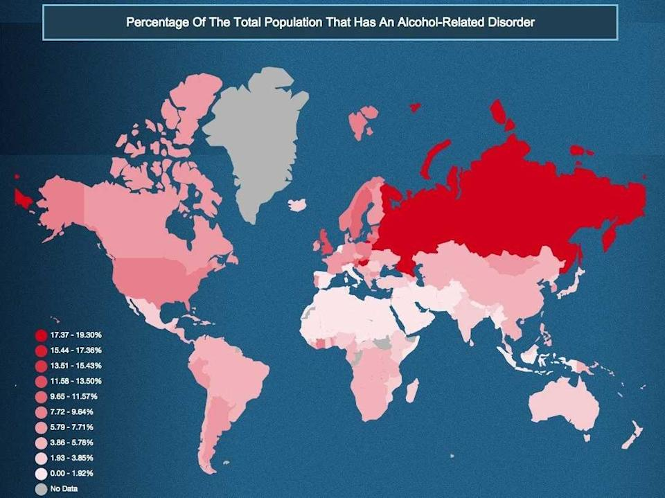 Alcohol disorders map